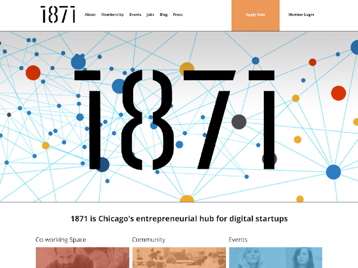 1871 Technology Incubator in Chicago Illinois